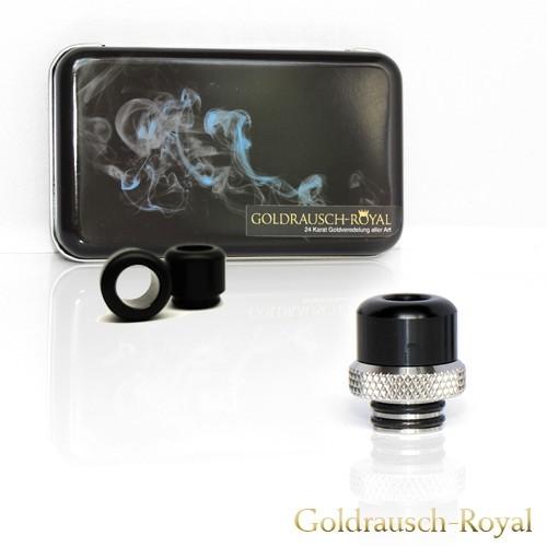 Goldrausch Edelstahl Edition No.2 (Base gerändelt, Edelstahl) - DL 510 Drip Tip Set